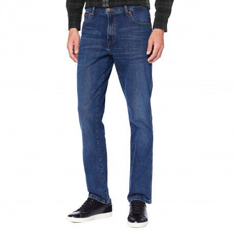 Wrangler Texas Stretch Denim Jeans Dark Nights | Jean Scene