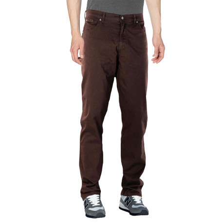Wrangler Texas Stretch Summer S4 Fabric Jeans Chocolate Brown | Jean Scene