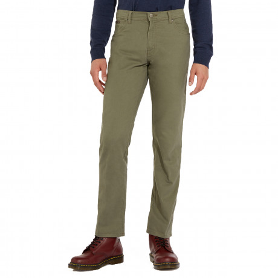 Wrangler Texas Stretch Soft Fabric Jeans Dusty Olive   Jean Scene