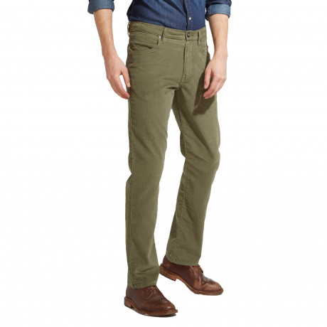 Wrangler Arizona Stretch Cords Dusty Olive | Jean Scene