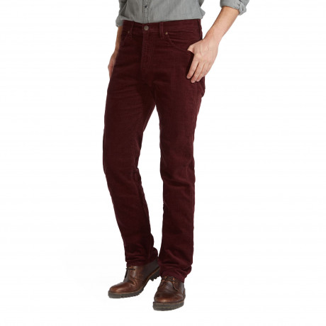 Wrangler Arizona Stretch Cords Damson Red | Jean Scene