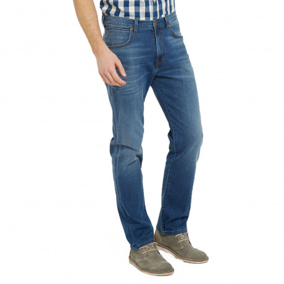 Wrangler Arizona Stretch Denim Jeans Beyond Blue Blue | Jean Scene