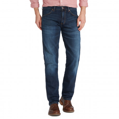 Wrangler Greensboro Modern Straight Denim Jeans El Camino | Jean Scene