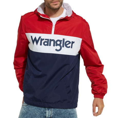 Wrangler Overhead Anorak Jacket Scarlet Red | Jean Scene
