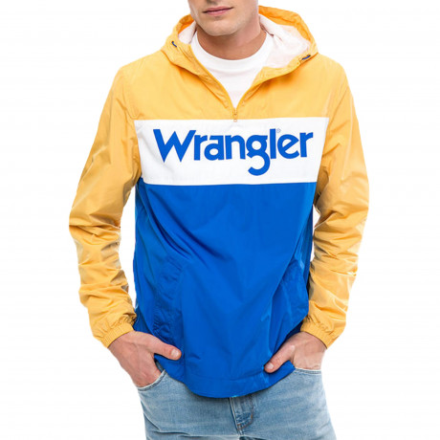 Wrangler Overhead Anorak Jacket Amber Yellow | Jean Scene