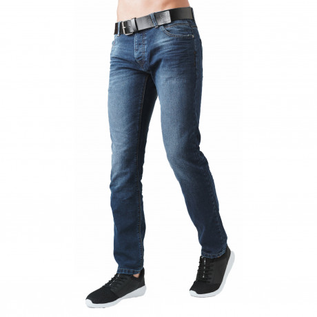 Crosshatch Straight Fit Wayne Jeans Faded Mid Wash | Jean Scene