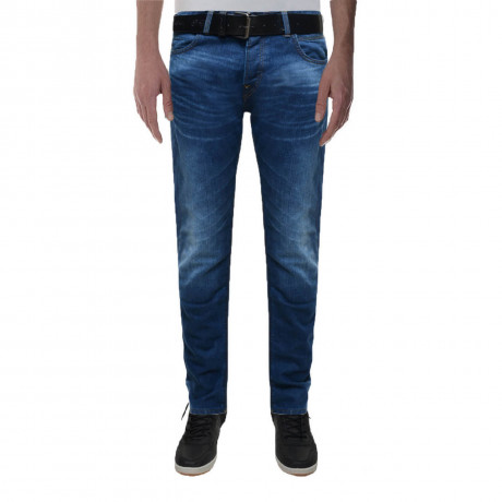 Crosshatch Straight Fit Denim Jeans Wayne Mid Wash Blue