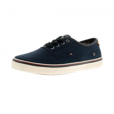 Wrangler Mens Low Canvas Legend Board Shoes Navy Shoes | Jean Scene