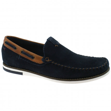 Wrangler Mens Low Sharky Suede Slip On Boat Shoes Navy Shoes   Jean Scene