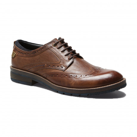 Wrangler Mens Boogie Leather Brogue Shoes Rust Shoes | Jean Scene