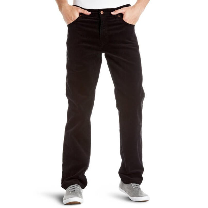 34e08f62 Wrangler Texas Stretch Black Cords Image. Double tap to zoom