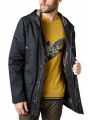 Ben Sherman Coated Four Pocket Cotton Jacket Black
