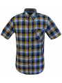 Ben Sherman Regular Fit Gingham Check Shirt Mustard
