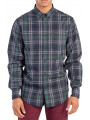 Ben Sherman Regular Fit Placed Check Shirt Ivy Leaf