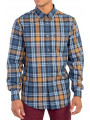 Ben Sherman Regular Fit Placed Check Shirt Mustard