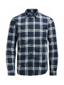 Jack & Jones Sope Long Sleeve Check Shirt Navy Blazer Blue