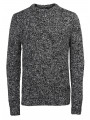 Jack & Jones Lawton Crew Neck Wool Blend Jumper Black