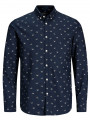 Jack & Jones Originals Choppy Long Sleeve Shirt Total Eclipse