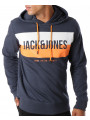 Jack & Jones Core Block Overhead Hoodie Sky Captain