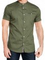 Jack & Jones Greg Shirt Grandad Collar Short Sleeve Thyme