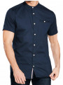 Jack & Jones Greg Shirt Grandad Collar Short Sleeve Total Eclipse