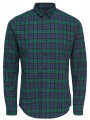 Only & Sons Trent Check Long Sleeve Shirt Rain Forest