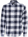 Only & Sons Godson Long Sleeve Check Shirt Night Sky Blue