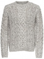 Only & Sons Crew Neck Wool Blend Knit Heath Jumper Cloud Dancer