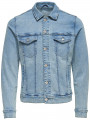 Only & Sons Coin Trucker Denim Jacket Blue Denim