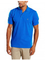 French Connection Plain 'F' Men's Polo Shirt Poster Blue