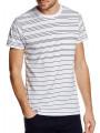 French Connection Graded Stripe Crew Neck T-Shirt White