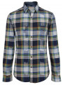 Esprit Slim Fit Long Sleeve Check Shirt Cinder Blue