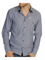 Soul Star Long Sleeve Plain Shirt Blue