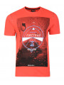Firetrap Crew Neck Dairsie Print T-shirt Racing Red