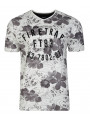 Firetrap Vee Neck Lothrop Floral T-shirt Jetstream
