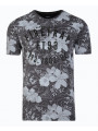 Firetrap Vee Neck Lothrop Floral T-shirt Nine Iron