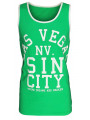 Soul Star Summer Vest Top Vegas Sin City Green
