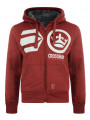 Crosshatch Pasadeno Zip Up Fur Hoodie Sun Dried Tomato
