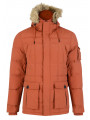 Threadbare Humberside Faux Fur Parka Jacket Rust