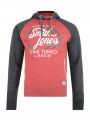 Smith & Jones Titanium Hoodie Blood Red Marl