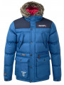 Rawcraft Men's Padded Entro Faux Fur Long Parka Jacket Blue