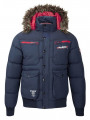 Rawcraft Men's Padded Francium Faux Fur Short Parka Jacket Navy