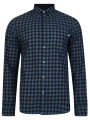 Timberland Flannel Gingham Check Shirt Slim Fit Dark Denim