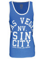 Soul Star Summer Vest Top Vegas Sin City Blue