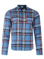 Lee Cooper Long Sleeve Check Shirt Blue