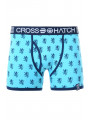 Crosshatch Men's Pattern Boxer Short Blue Atoll