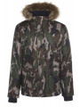 Kangol Men's Faux Fur Parka Jacket Camouflage Green
