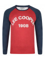Lee Cooper Crew Neck Henley Top Red