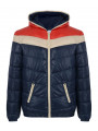 55 Soul Shiny Padded Jacket Red Navy