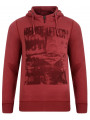 Garcia Hooded Half Zip Vintage Sweatshirt Radish Red